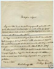 1067 LETTERA 1864 SENATORE AUTOGRAFO FILIPPO QUARANTA RINGRAZIA LASCITO