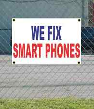 2x3 WE FIX SMART PHONES Red White & Blue Banner Sign NEW Discount Size & Price
