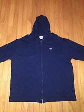 Lacoste Men's Waffle Hooded Zip Front Hoodie Navy Blue Jacket Size 9 XXXL 3XL