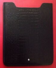 MONTBLANC $550 BLACK IPAD 100% LEATHER COVER CASE NEW IN BOX ITALY ����