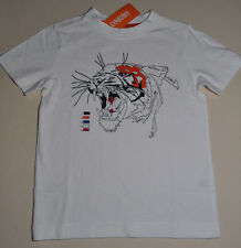 Gymboree boy tiger tee shirt size 4 NWT top boys short sleeve white