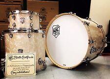 SJC Custom Drums Aged White Marine Pearl 3pc Drum Set Brand New