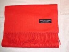 PREMIUM 100% Cashmere Scarf Soft Solid Red Scotland Wool Unisex Wrap Check Plaid