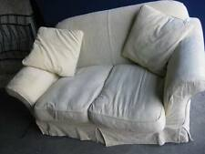 Sofa / Settee - 2 Seater -Cream - On Wheels - Compact