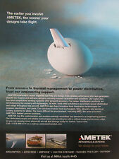 9/2007 PUB AMETEK AEROSPACE DEFENSE OEUF EGG EI ORIGINAL AD