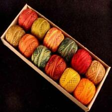 Valdani Perle Cotton Size 8 Embroidery Thread Fabulous Autumn Sampler Set