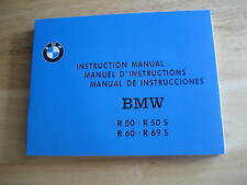 NEW VINTAGE BMW R50-R69S OWNERS MANUAL. BEAUTIFUL REPRODUCTION