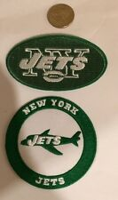 "(2) New York Jets vintage embroidered iron  on logo patches  3x2""& 3""x3"""