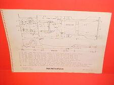 1964 1965 FORD FALCON FUTURA CONVERTIBLE RANCHERO DELIVERY FRAME DIMENSION CHART