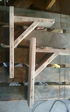HANDMADE PALLET WOOD  RUSTIC WOODEN SHELF BRACKETS