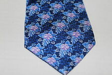 New Mens Nautica Dress Suit Tie Necktie Small Floral Purple Blue White