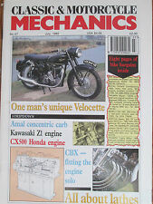 Classic Motorcycle Mechanics Magazine Hand-Built Vero Hybrid; All About Lathes