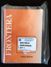 Holden Frontera 1999 - 2003 genuine GM owners service manual handbook 92074674