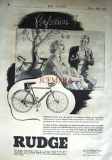 1938 RUDGE 'Fast Sports No.72' Vintage Gent's Bicycle ADVERT - Cycling Print Ad