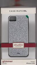 Case-Mate Glimmer Silver Glitter case Cover iPhone 5/5S