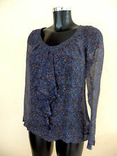 top, tunique Stella Forest, bleu, taille 36fr, 100% soie, authentique