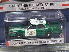 Greenlight 1/64 GREEN MACHINE CHP California Highway Patrol Crown Vic Police Car