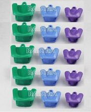 GER ! 5 X Silicone Dental Autoclavable Impression Tray Mouth Prop (3pc/ kit)