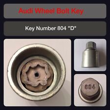 "Genuine Audi Locking Wheel Bolt / Nut Key 804 ""D"" 17 Hex"