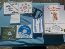 JANOME CARD READER 10000 - IOB - W/ ASSORTED CARDS