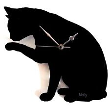 PERSONALISED CAT CLOCK , WALL MOUNTED