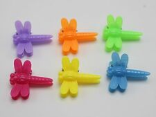 50 Mixed Color Plastic Dragonfly Mini Hair Claw Clips Clamp for Kids