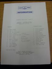 14/01/1987 Everton v Tranmere Rovers [Liverpool Senior Cup] (Single Sheet). Any