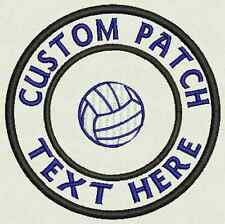 """Volleyball Custom Embroidered Tag, Patch, Badge Iron On or Sew On - 3.50"""""""