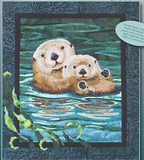 Sea Otters applique quilt pattern by Toni Whitney of Toni Whitney Designs