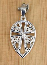 Anhänger Silber - Keltische Dreifaltigkeit - Triquetra -  Kreuz