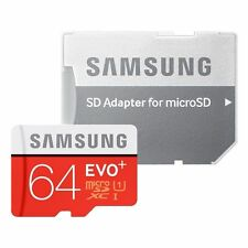 SAMSUNG 64GB MICRO SD MEMORY CARD EVO CLASS 10 evo plus+with adaptor+10 Yr Wrnty