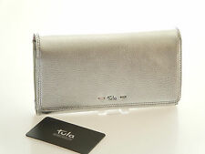 Tula by Radley Violet Large Matinee Purse In Silver Leather BNWT RRP £59.00