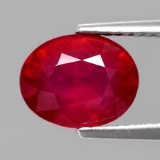 Only! $39.96/1pc 9x7mm Oval Natural Top Red Ruby, Mozambique