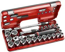 Facom 25pc unidad 1/2in 10 32mm Socket Set Con Trinquete SXL.DBOX3 Extensible