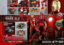 """Hot Toys Avengers Age of Ultron IRON MAN MARK XLV 12"""" Figure 1/6 Scale MMS300"""