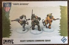New! Dust Tactics Corps Officers Heavy Rangers Command Squad