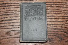 Antique 1925 Corps of Cadet book handbook West Point NY Bugle Notes Military