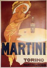 """MARTINI"" Affiche originale entoilée  typo vers 1960     73x103cm"