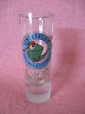 Senor Frog's Bar & Grill & Clothesline Tall Shot Glass Shooter Cancun Mexico