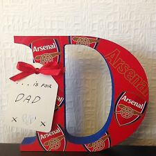 D Is For Daddy Or Any Name Etc Any Letter/Number Arsenal Valentines Gift