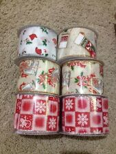 12 Rolls Of Christmas Ribbon Each Roll Is 10 Yards