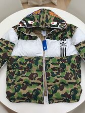 Adidas x Bape Down Shark Hoodie Jacket A BATHING APE  Size : XL