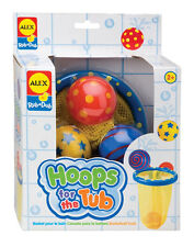 Hoops for the Tub - Beach BATH TOY Pool BASKETBALL Kid Shower Child Game AL694