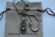 David Yurman men's streamline star tag with chain 22 inches
