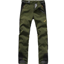 Mens Hiking Climbing Waterproof Soft Shell Outdoor Pants Windproof Long Trousers