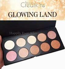 Highlight & Blush Palette - Beauty Creations Glowing Land- 10 Natural Shades!