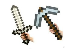 Cool Hot Xmas Gift Set for Minecraft Foam Diamond Sword and Diamond Pickaxe