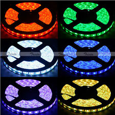 Waterproof RGB 5M 300 Leds 5050 SMD LED Strip Light 12V White PCB + 24 IR Remote