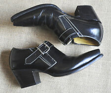 NEAR NEW - VINTAGE COWBOY ANKLE BOOT - BUCKLE DETAIL - MADE IN MEXICO -