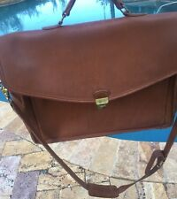 Coach Briefcase Brown Leather Messenger Travel Bag Vintage